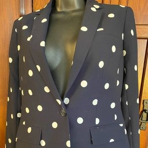 Polka Dot Suit, Blazer Sz 4, Pants, sz8.        R1